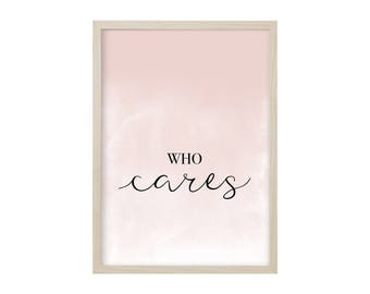POSTER / WHO CARES