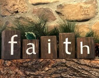 FAITH Reclaimed Rustic Wooden Blocks