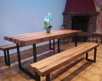 Table 6 reclaimed wood with industrial inspiration