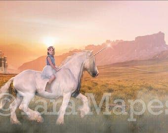 Unicorn by Castle Digital Background