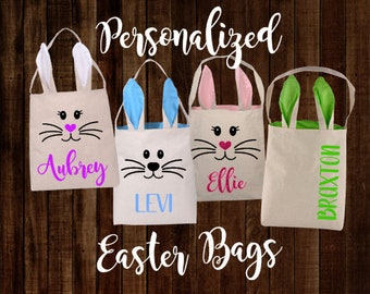 Personalized Easter Bunny Ears Bag