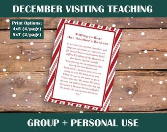 December 2017 Visiting Teaching kit   Relief society Message Digital Printable LDS VT