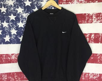 Rare! Vintage NIKE Sweatshirt Crewneck Jumper Pullover Embroidered Logo Xl Size  Rare Item