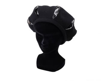 Open wedge Basque hat with lace-Basque Beret hat