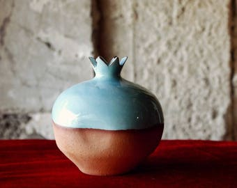 Ceramic pomegranate, Pottery, Greek pottery art, New year's present, Goodluck pomegranate charm, Handmade gift, Home decor ideas