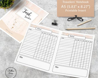 A5 Travelers Notebook, A5 Weekly Planner, Inserts for a Planner A5, Task Planner, Weekly To Do List Planner, Weekly Tracker Printable, A5 TN