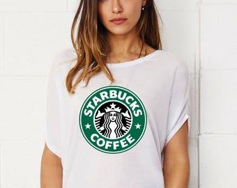 Starbucks Lady's Tunic Loose Fit T-shirt Cotton Touch Shirt Woman Shirt