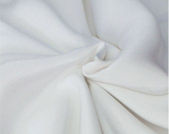 "Sample/ Yards/Meters 100% Pure Silk Fabric Crepe De Chine 55"" /140cm wide 14momme Off White crepeW-Off White Material-14mmW Cloth online"