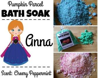 Anna Bath Salts, Frozen Bath Salts, Bath Bomb, Bath Soak, Peppermint Bath Salts, Winter Bath Salts, Princess Bath Salts, Relaxing Bath Salt