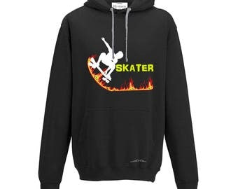 Hoodie Hooded Sweatshirt SKATER, hoodies skater, man sweater