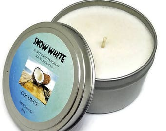 SNOW WHITE Soy candle Coconut 8 oz