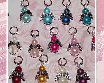 100 guardian angel from beads * guest gift, lucky charms *.