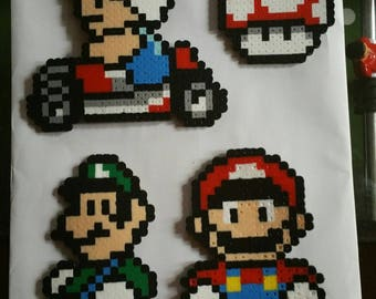 Mario Brothers Perler Bead 14 Piece Set