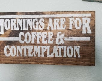 Stranger Things Coffee and Mornings sign