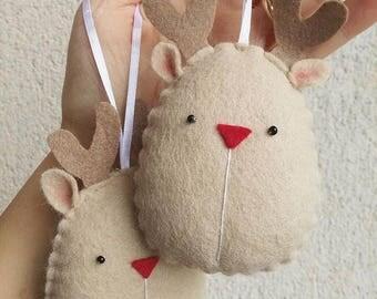 Christmas decoration, Christmas tree decoration, keychains, reindeer, Reindeer, felt decorations, Christmas decorations, Gift Idea