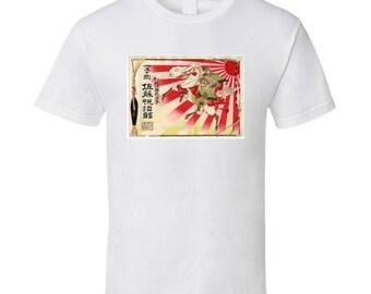 Samurai Rising Sun T Shirt