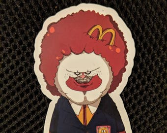 Creepy Ronald McDonald Sticker