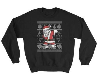 Funny Dabbing Old English Sheepdog Ugly Christmas Sweater Cute Dog Gift