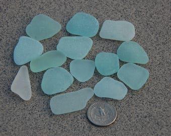 14 aqua seaglass/ sea foam sea glass/ beach glass/ frosted seaglass/ seaglass bulk/ zeeglas/ cristal de mar/ meerglas/ verre de mer
