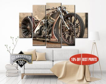 Motorcycle Wall Art | Etsy