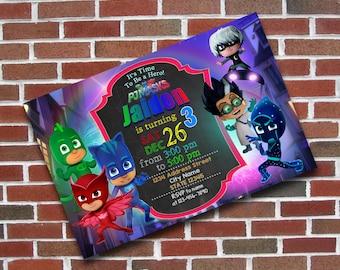 Pj Masks, Pj Masks Birthday, Pj Masks Invitation, Pj Masks Party, Pj Masks Birthday Invitation, Pj Masks Invite, Pj Masks Printable, Card