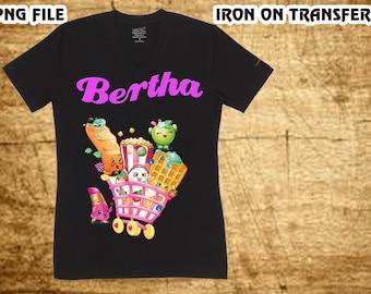 Shopkins , Shopkins Iron On Transfer , Shopkins Birthday Shirt DIY , Shopkins Shirt DIY , Girl Birthday Shirt DIY , Digital File