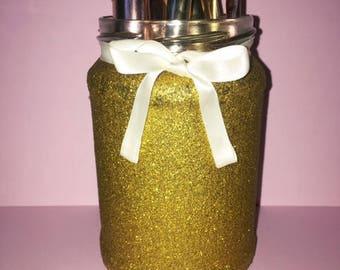 Gold Glitter Makeup Brush holder
