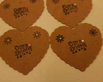4 Heart Shaped Gift Tags