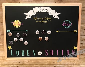 Personalized Chore Chart with Magnets