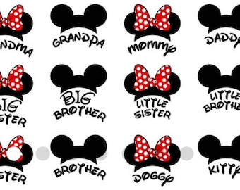 Mickey Ears and Names