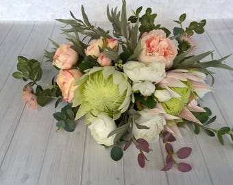 Bohemian Bridal Package - Artificial silk Flowers- Bride, Bridesmaid, Buttonhole
