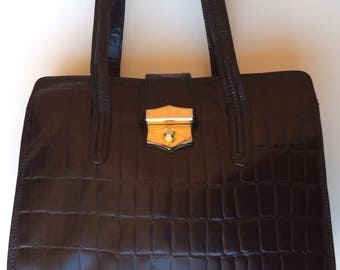 BLACK BAG // VINTAGE // Made in Italy