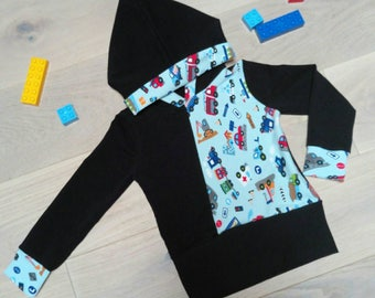95% cotton fleece with cotton Jersey motifs from 1 year to 6 years on order