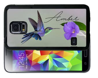 Personalized Rubber Case For Samsung S5, S6, S6 edge, S6 Edge Plus, S7, S7 Edge,  8, 8 plus - Humming Bird