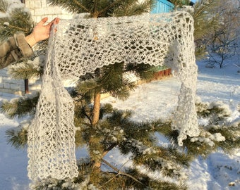 Wedding Scarf, Bridal Scarf, Crochet Scarf, Wool Scarf, Bridal Wrap, Crochet Wrap, Lace Shawl, Scarf For Women, Scarf Wraps, Winter Scarf