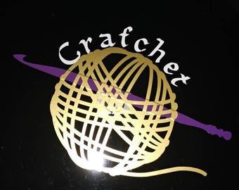 Custom crochet decal