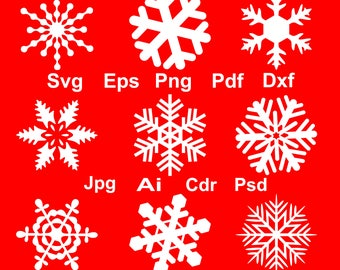 70% off, Snowflakes Silhouettes, Snowflakes Vector, Christmas Decoration, Snowflake Clipart, Snowflake Svg files, Eps, Png, Dxf, Silhouettes