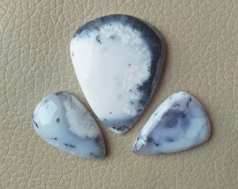 Dendrite Opal Gemstone 100% Loose Cabochon Pear Shape Lot Stone, Wholesale Price Gemstone Supplies, Dendrite Opal Cabochon Weight 122 Carat