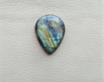 Natural Labradorite Pear Gemstone, Labradorite 01 Pieces Gemstones 75 Carat Weight, Size - 39x30x9 MM Approx. Labradorite Pendant Stone.