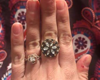 Gemstone Flower Ring