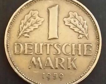 Coin 1 Mark 1959 Germany