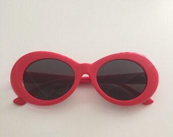 Red Kurt Cobian Clout Goggles , Festival Sunglasses
