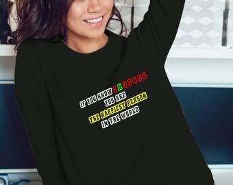 Bikers Sweatshirt - The Happiest Person Sweatshirt #R