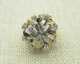 14K Vintage Diamond Yellow Gold Ring