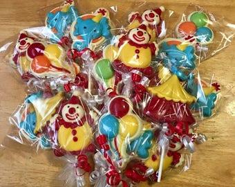 Circus Chocolate Lollipops