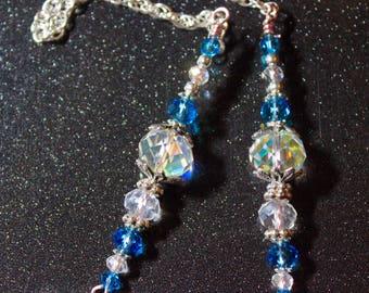 Light blue dangling ornament