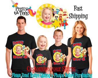 SUPERHERO with your Child's PICTURE Birthday Girl Theme Family BLACK Shirts For the Entire Family Mom Dad Brother and More T-shirt Supergirl