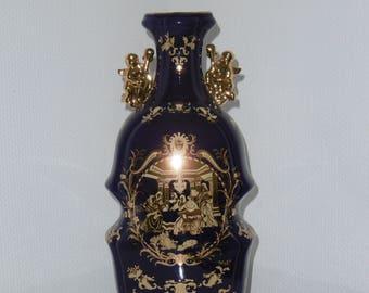 Porcelain vase genuine Cobalt Gold – decor height 36.5 cm