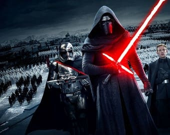 Starwars Darth Vader stormtrooper phasma poster cute 77x56cm or any size you want