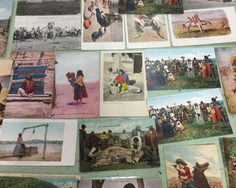 20+ Western and Native American postcards vintage and antique